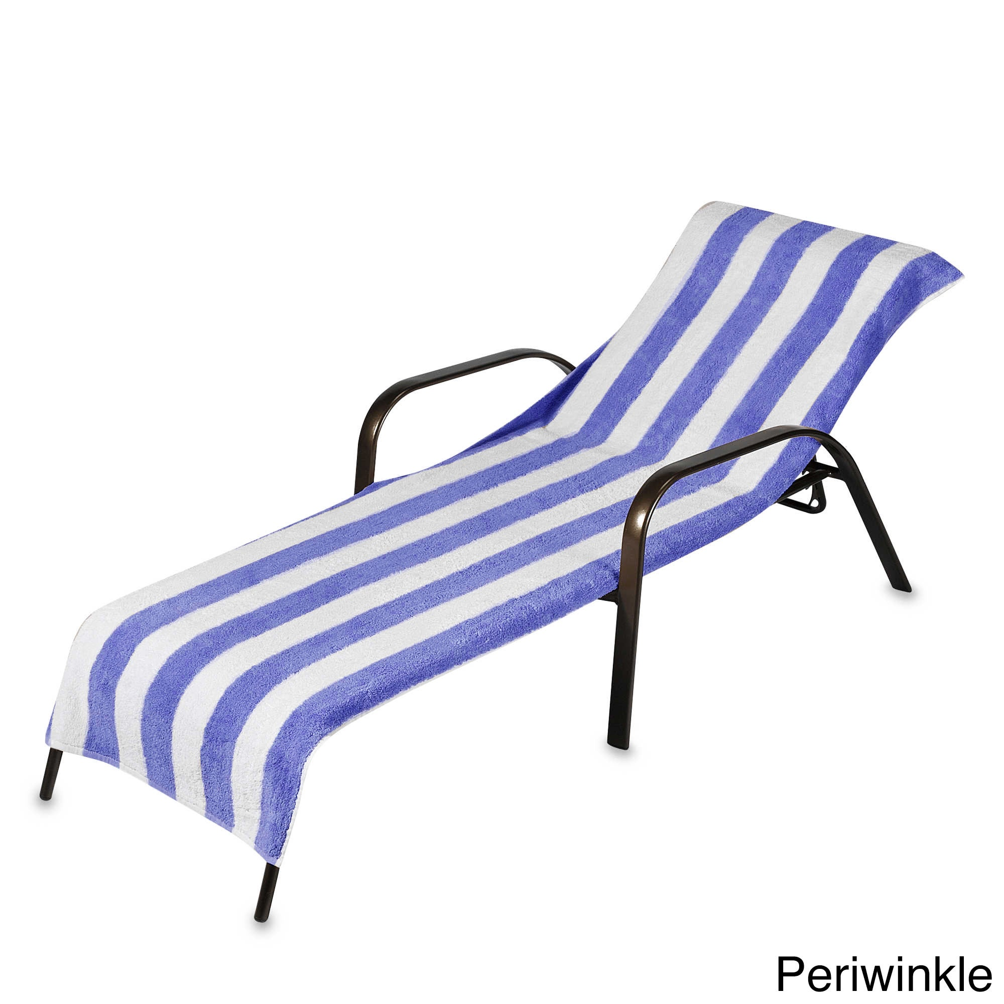 Shop beach towel style terry stripe chaise lounge cover 28 x 78 assorted colors free shipping on orders over 45 overstock 11660164
