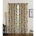 Jubilee Floral Rod Pocket Curtain Panel Pair