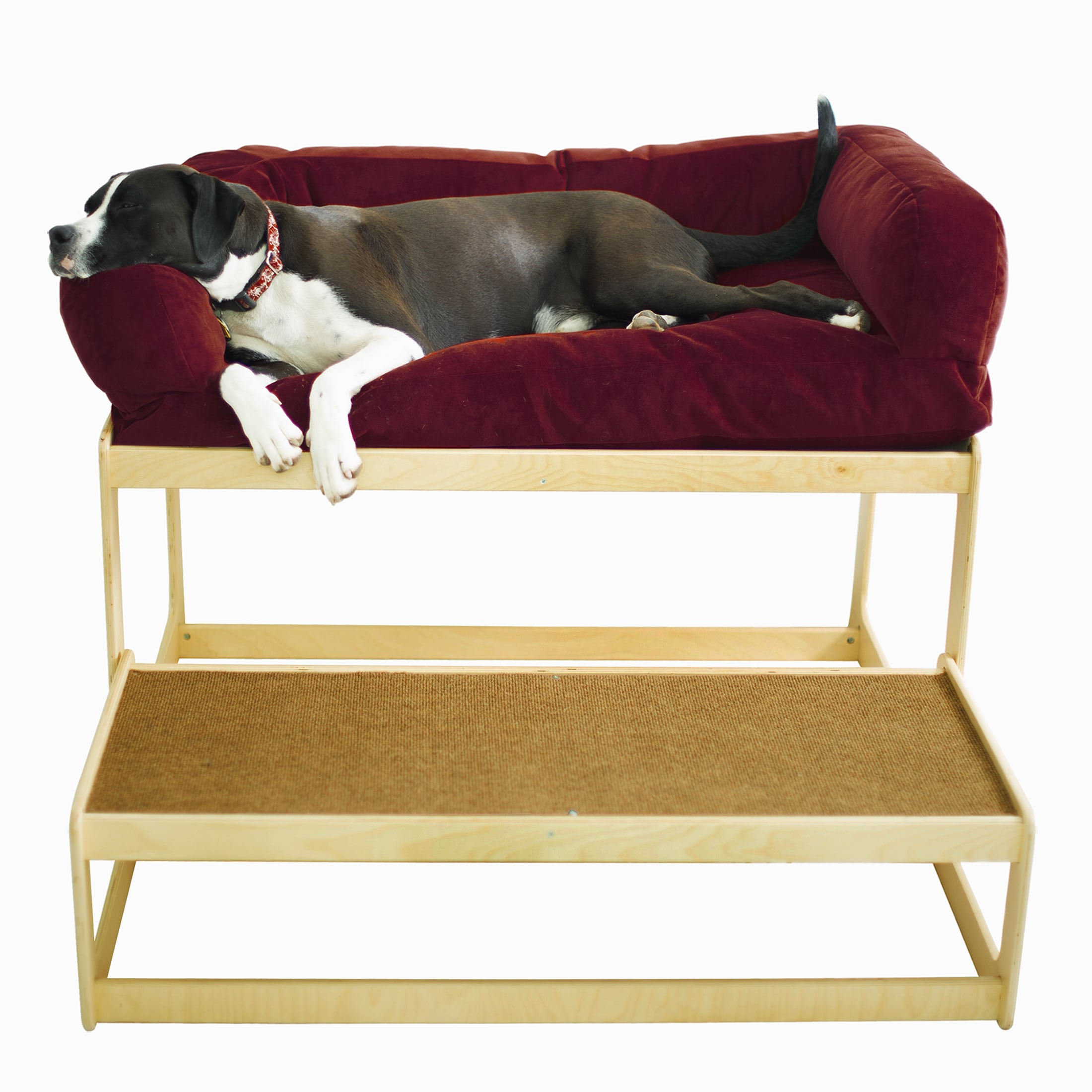Lacey S Lookout Large Micro Velvet Cover Natural Baltic Birch Pet Window Seat Free Shipping Today 11661020