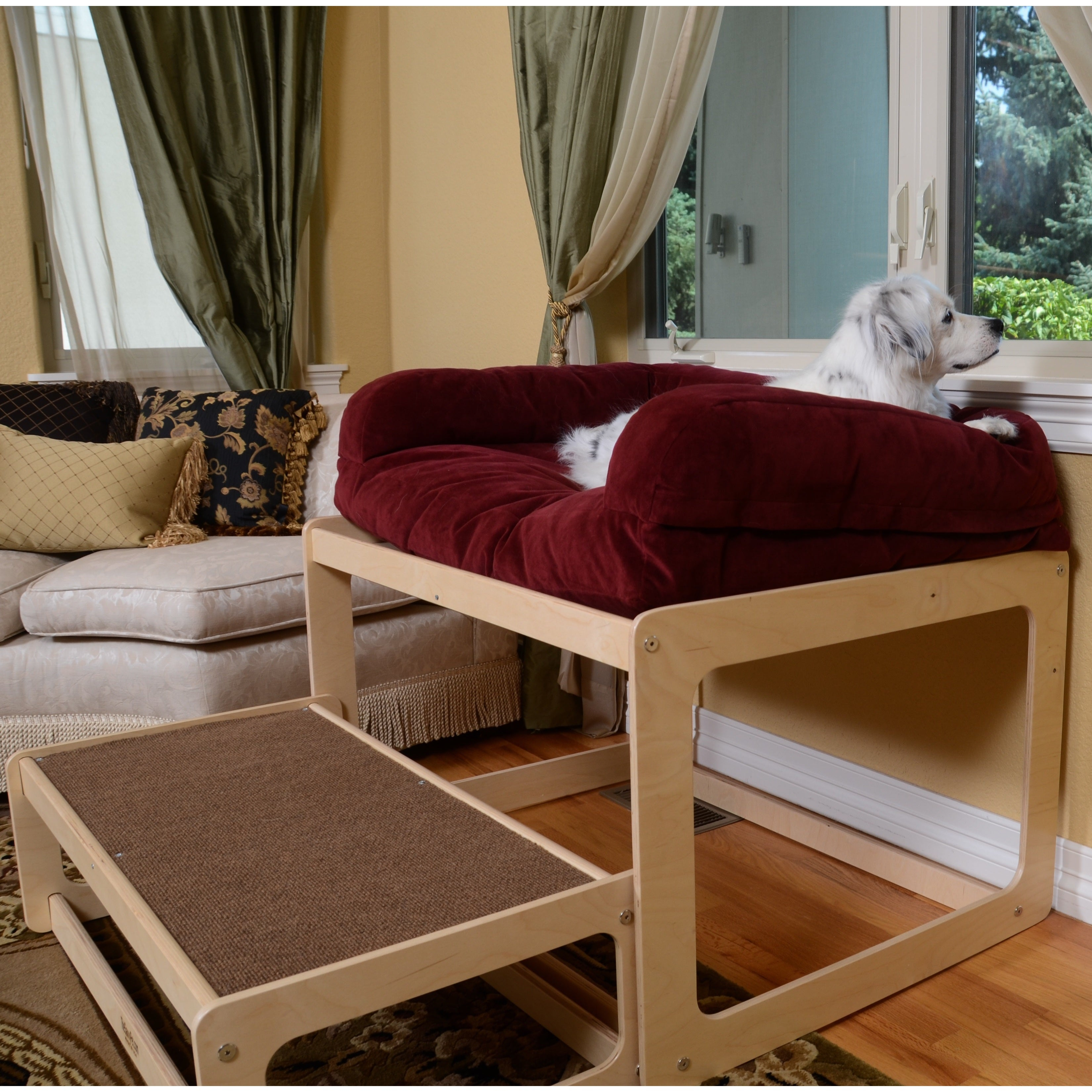 window chair furniture. Lacey\u0027s Lookout Natural Wood Medium Dog Or Cat Window Seat - Free Shipping Today Overstock 18591073 Chair Furniture A
