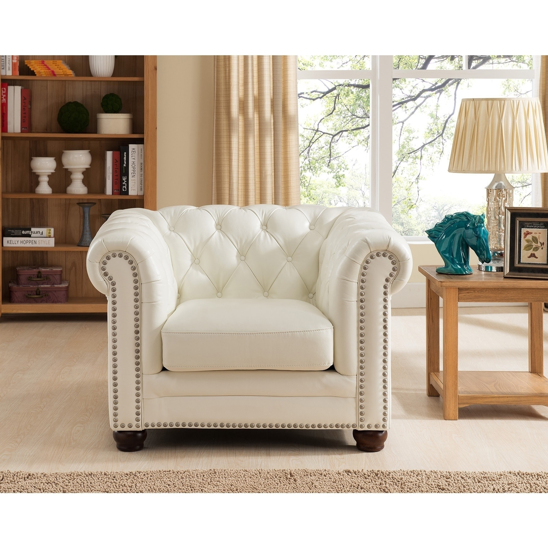Nashville White Leather Chair