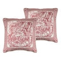 Sherry Kline Elizabethan Toile Print 18-inchThrow Pillow (Set of 2)