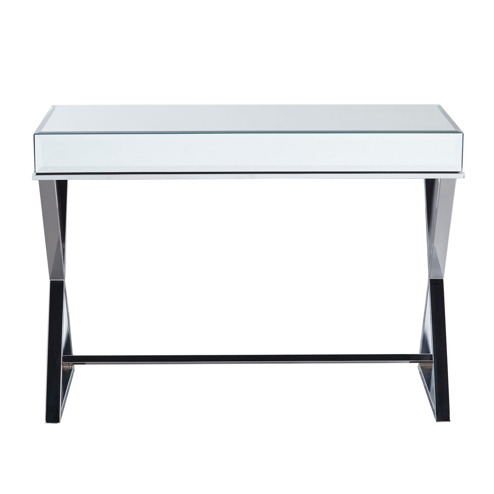 Omni X-base Mirrored Top 1-drawer Campaign Desk by iNSPIRE Q Bold - Free  Shipping Today - Overstock.com - 18598289