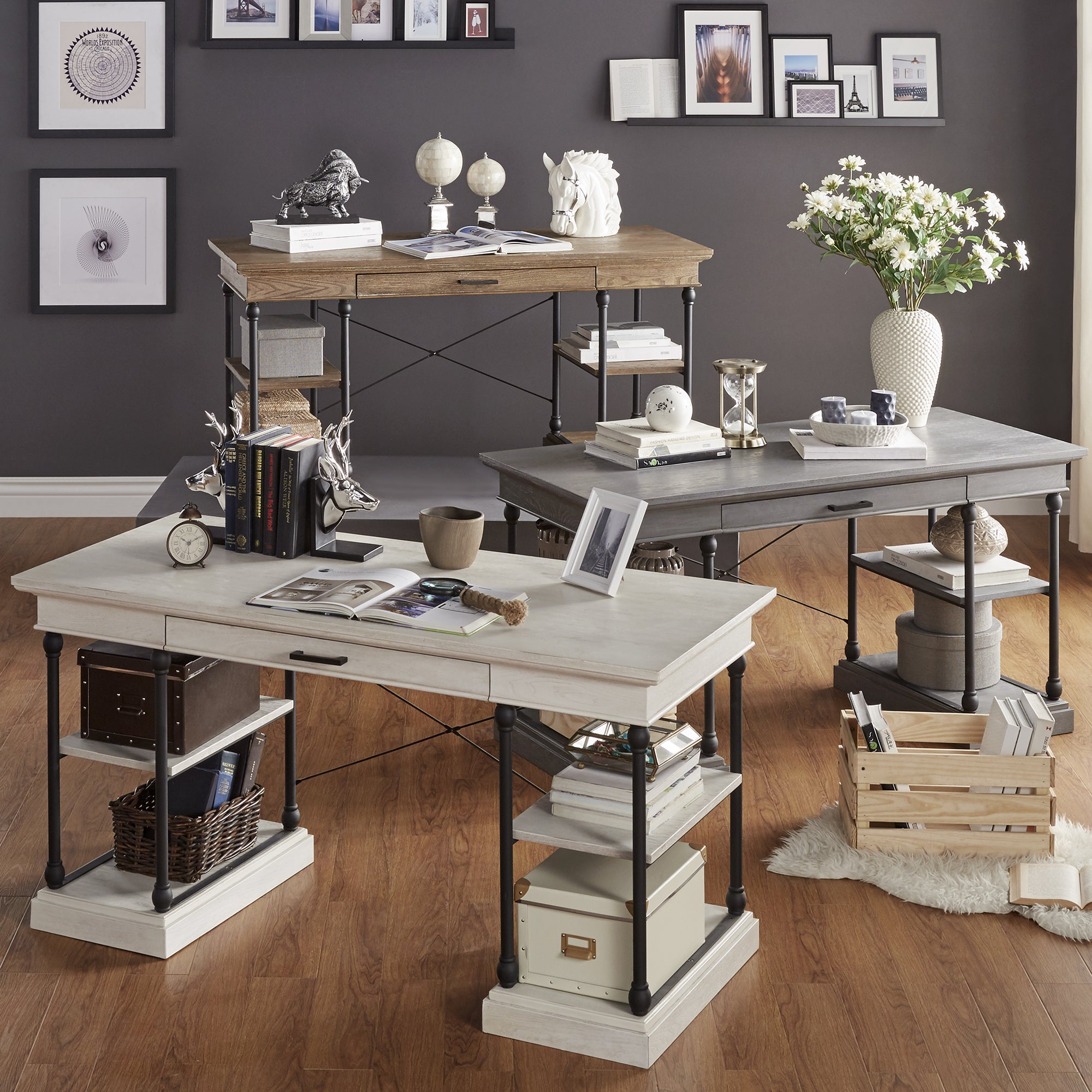 Barnstone Cornice 1 Drawer Storage Writing Desk By Inspire Q Free Shipping Today 11669566