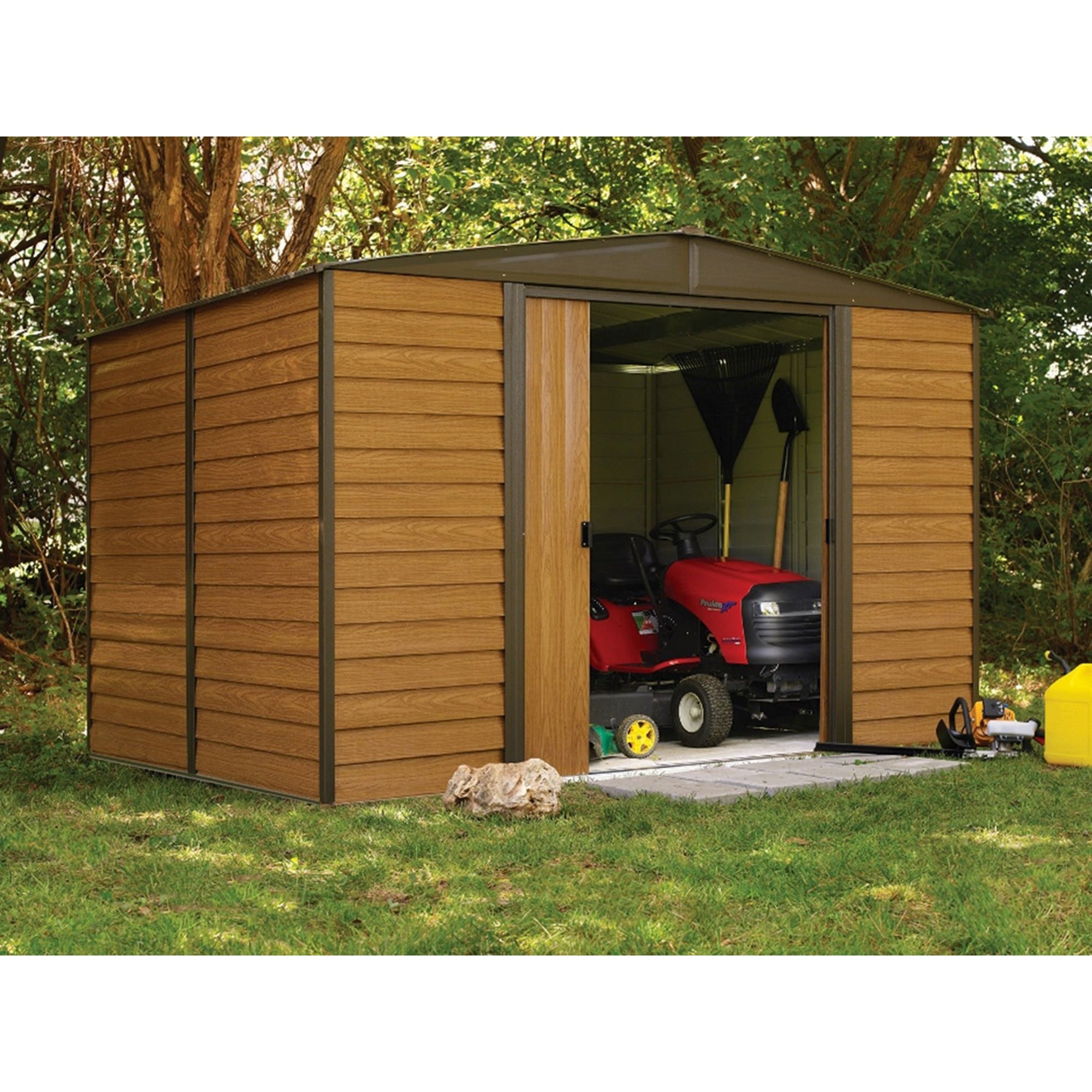 treated direct overlap forest sheds shed buy for less pressure apex