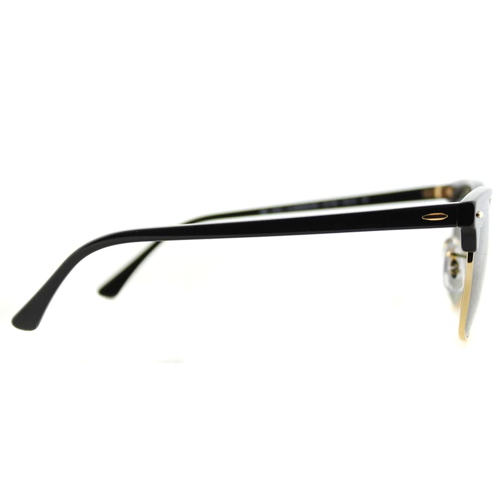 0c7e79135c Shop Ray-Ban RB 3016 901 58 Black And Gold Plastic Clubmaster Green  Polarized Lens Sunglasses - Free Shipping Today - Overstock - 11672743