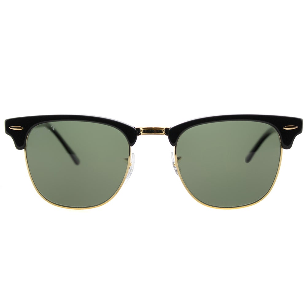 75b18d3fd02 Shop Ray-Ban RB 3016 901 58 Black And Gold Plastic Clubmaster Green  Polarized Lens Sunglasses - Free Shipping Today - Overstock - 11672743