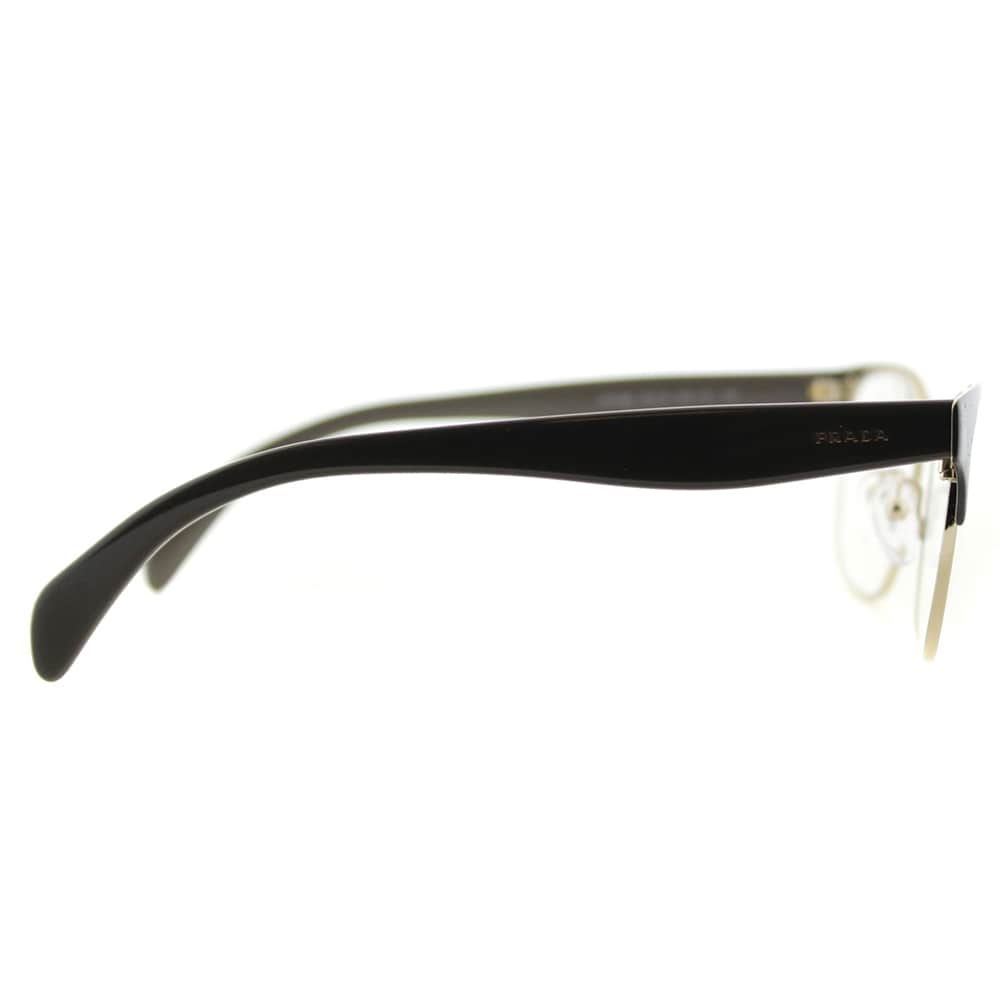 bd10fa34420 Shop Prada PR 65RV DHO1O1 Brown On Pale Gold Metal Rectangle 55mm Eyeglasses  - On Sale - Ships To Canada - Overstock - 11672839
