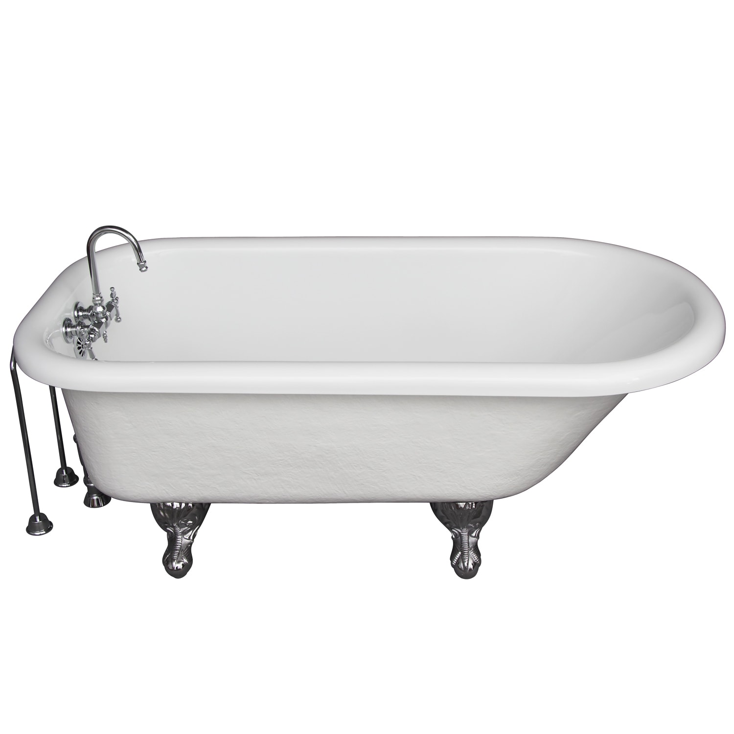 Shop 5-foot Acrylic Ball and Claw Feet Tub in White - Free Shipping ...