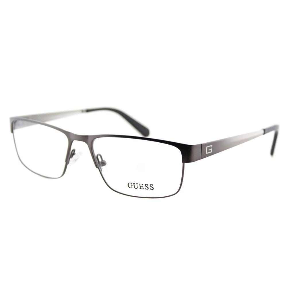 407cbf114932a Shop Guess GU 1770 GUN Gunmetal Metal Rectangle 54mm Eyeglasses ...