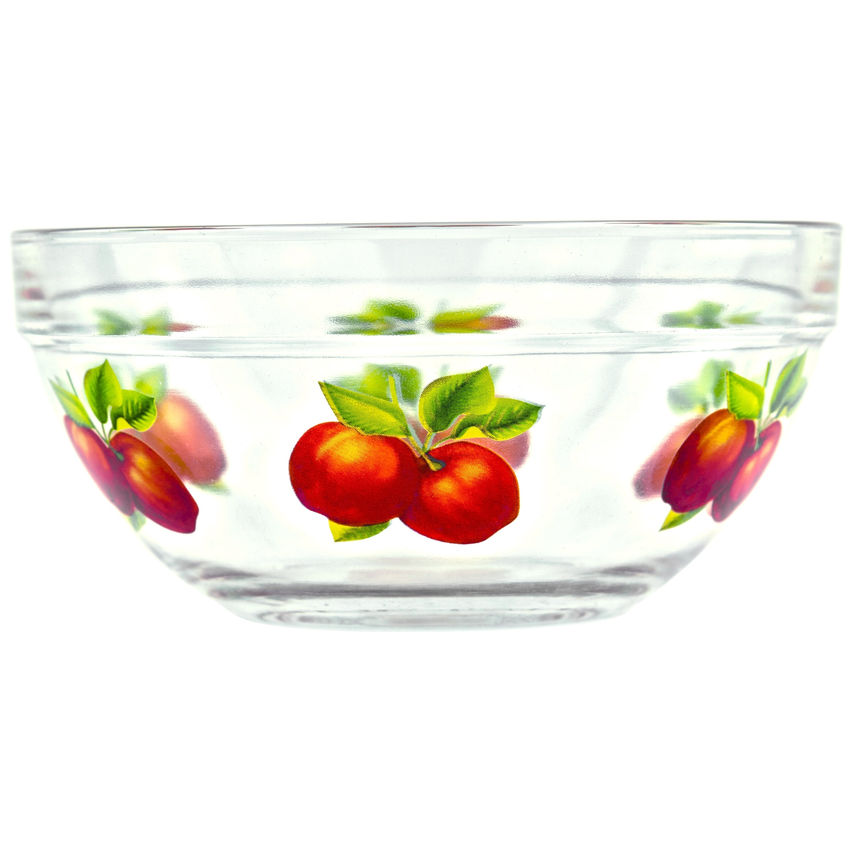 Shop 10 Piece Glass Lunch Bowls Or Food Storage Containers Set With Lids  And Apple Design   On Sale   Free Shipping On Orders Over $45    Overstock.com   ...