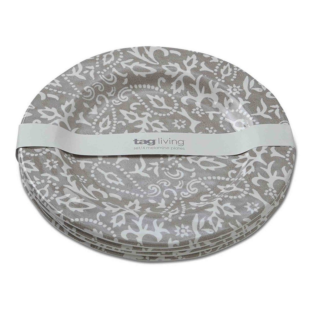 TAG Artisan Melamine Dinner Plates Taupe - Free Shipping Today - Overstock - 18601590  sc 1 st  Overstock.com & TAG Artisan Melamine Dinner Plates Taupe - Free Shipping Today ...
