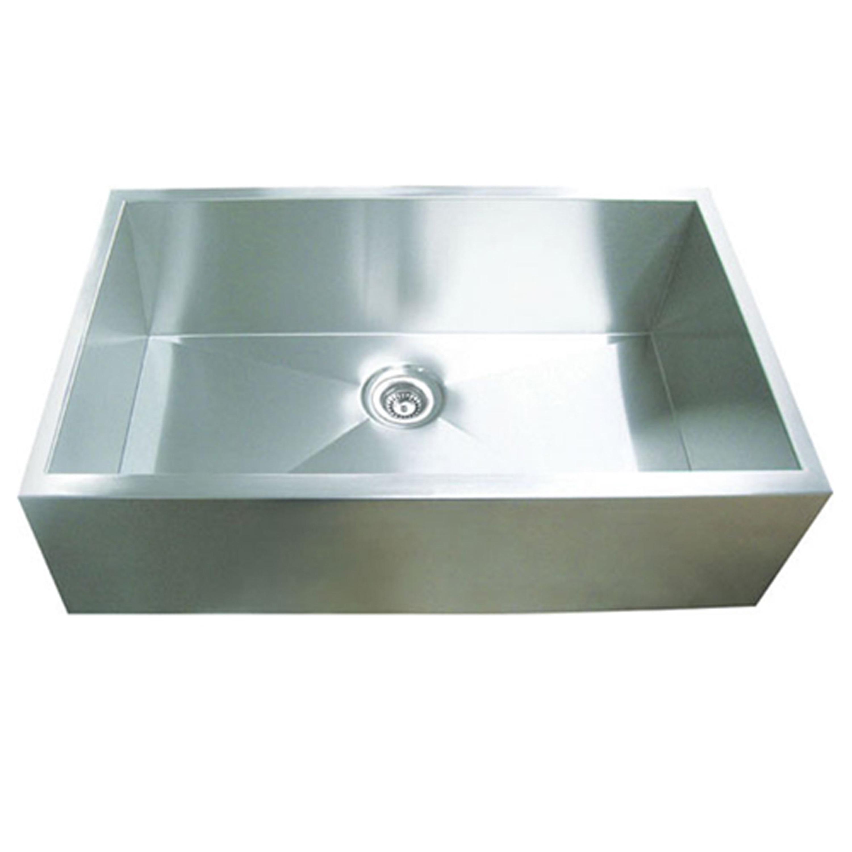 Shop Y-Decor Hardy Apron Farmhouse Sink Single Bowl Stainless Steel ...