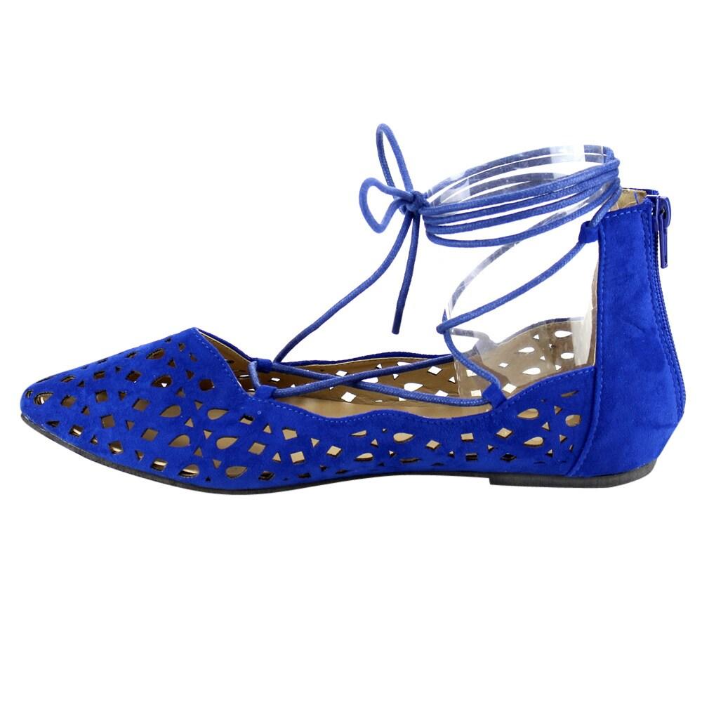 a7d90d59ebcf6 Marilyn Moda LUNA Women's Lace Up Flats