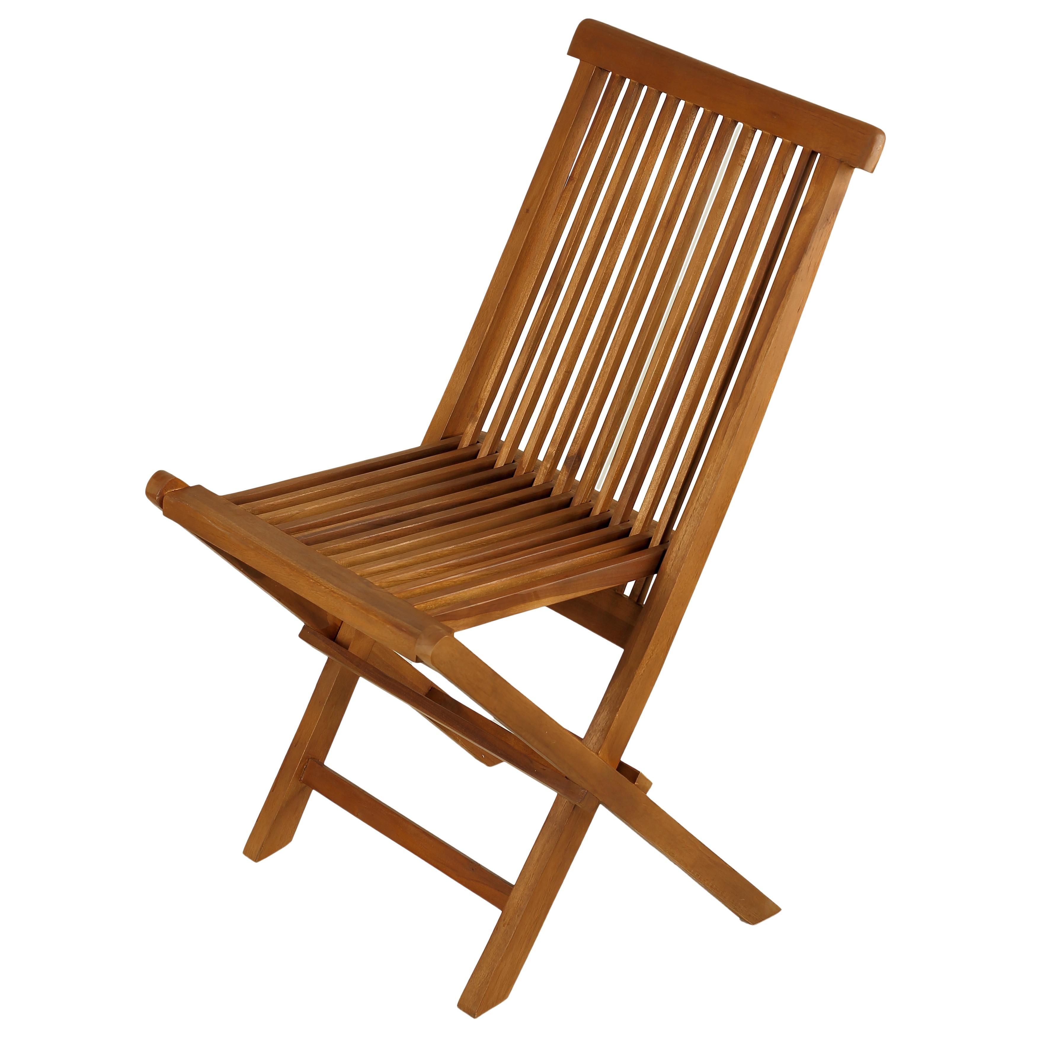 Bare Decor Vega Golden Teak Wood Outdoor Folding Chair Set of 2