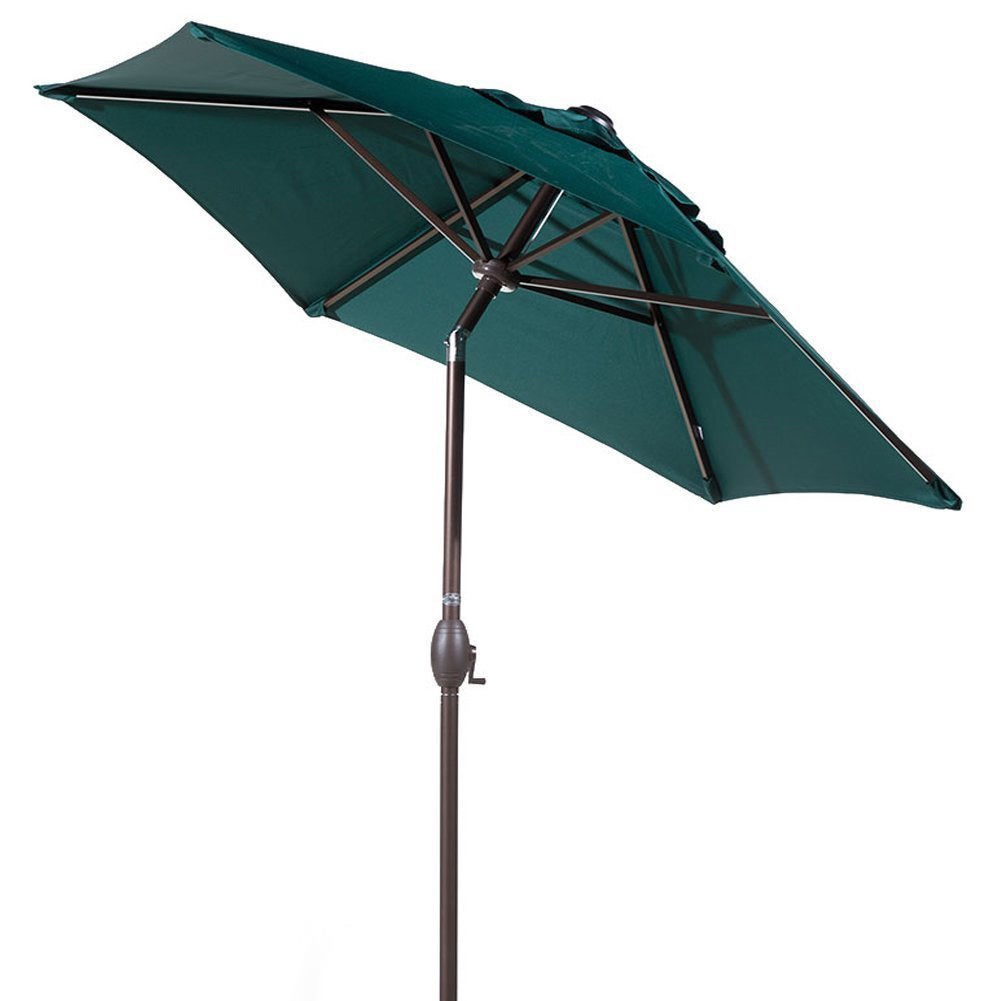 Abba 7 5 Foot Round Outdoor Push On Tilt And Crank Patio Umbrella Free Shipping Today 11684421