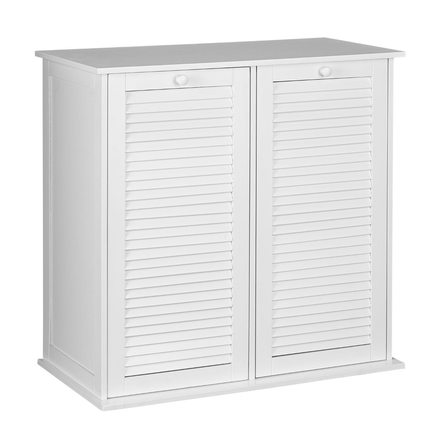 Household Essentials White Shutter Front Tilt Out Cabinet Laundry Sorter