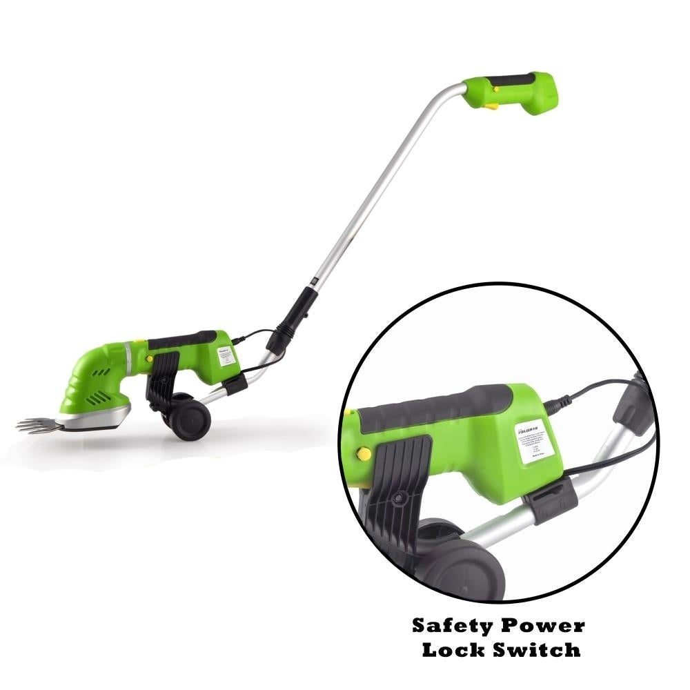 Serenelife Pslgr18 Cordless Electric Handheld Hedge Trimmer With Changeable Blades Free Shipping Today 11685305