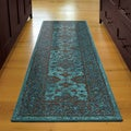 Carolina Weavers Brighton Collection Hermitage Blue Runner (2'3 x 8')