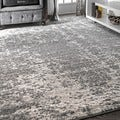 nuLOOM Contemporary Granite Mist Shades Grey Rug (7'6 x 9'6)
