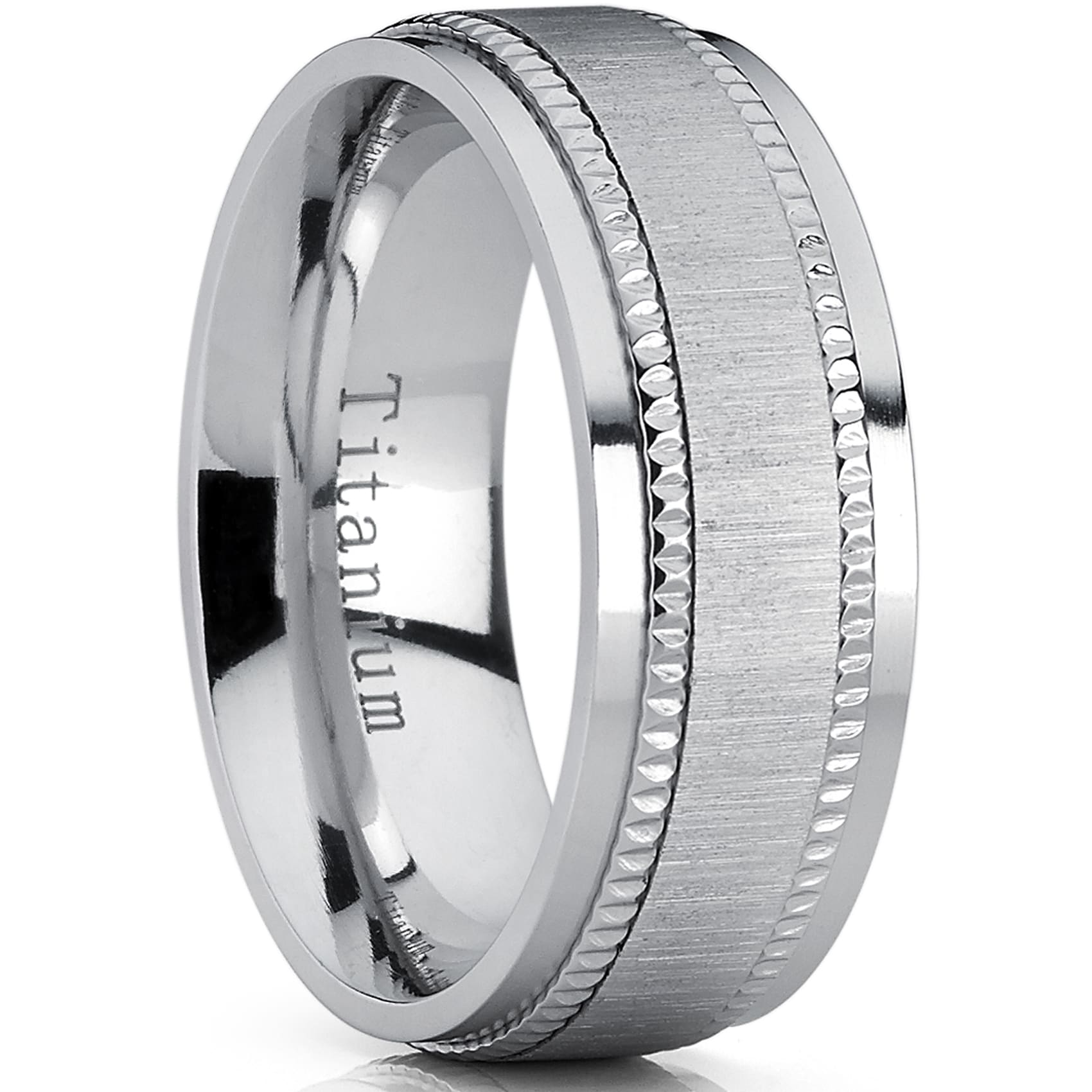 bands mens floral with men titanium edges wedding band s engagement pattern rings ring design flower