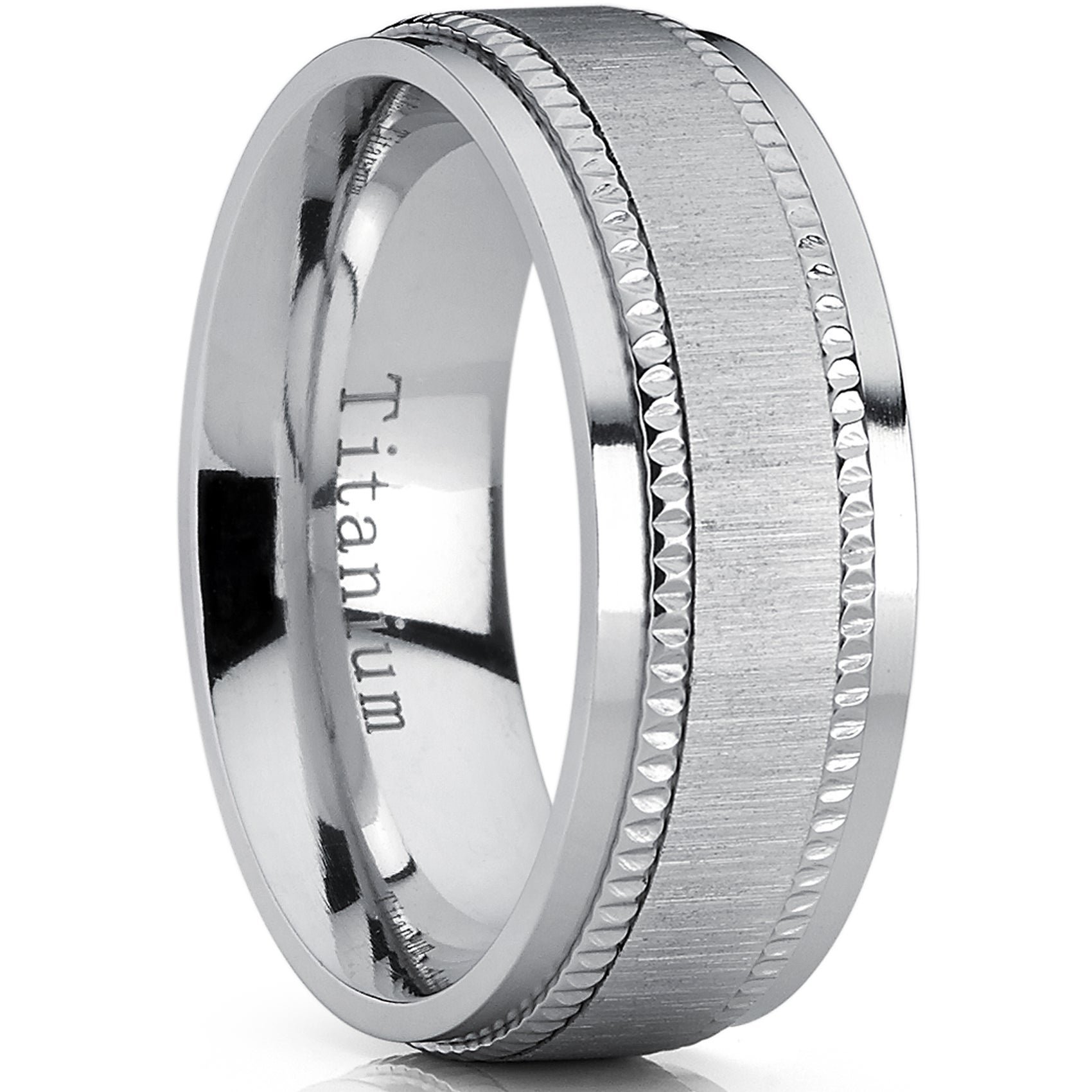 titanium design lajerrio silver men ring mens steel black jewelry chain bands s