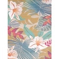 Islander Tropical Jungle Area Rug (5'3 x 7'2)