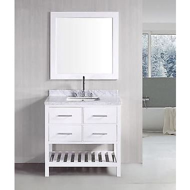Shop 30 Inch Belvedere Bathroom Vanity With Marble Top   On Sale   Free  Shipping Today   Overstock.com   11690204