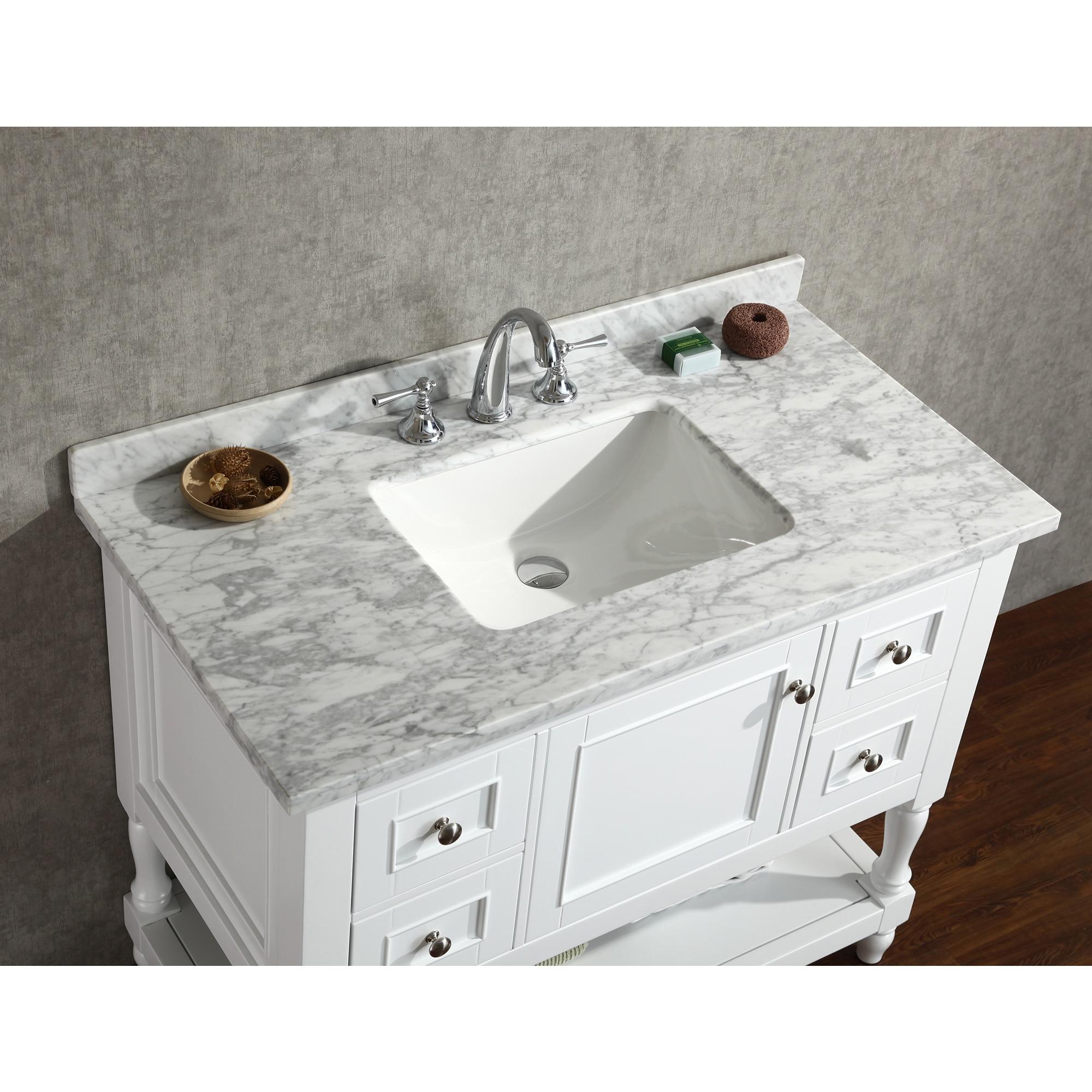 Shop Ari Kitchen And Bath Cape Cod White 42 Inch Single Bathroom