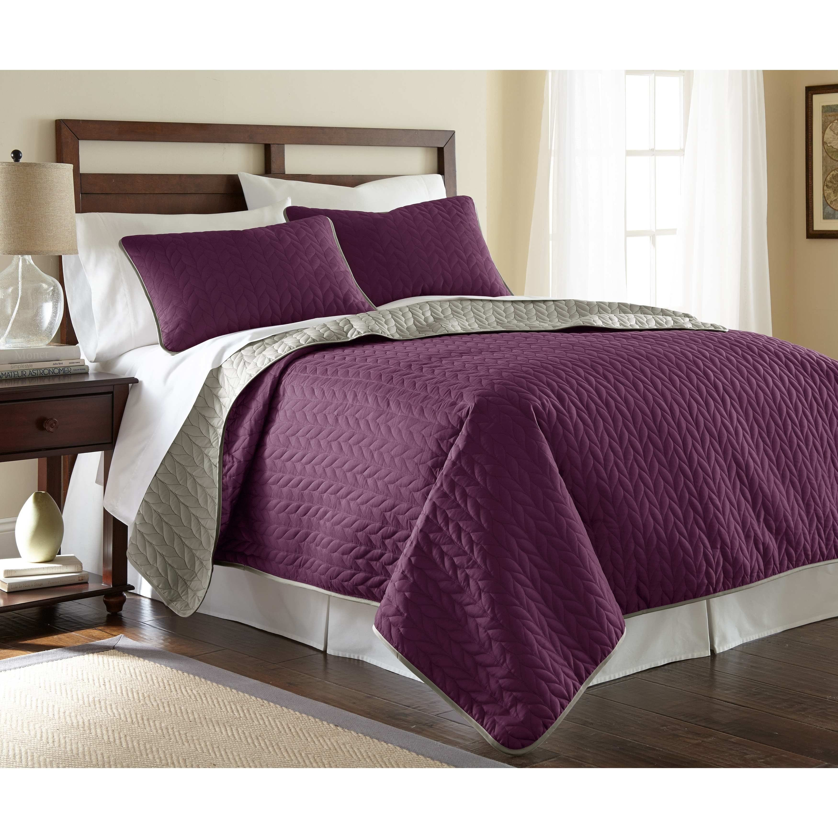 overstock shipping purple today playground heart bath urban set free quilt product piece bedding