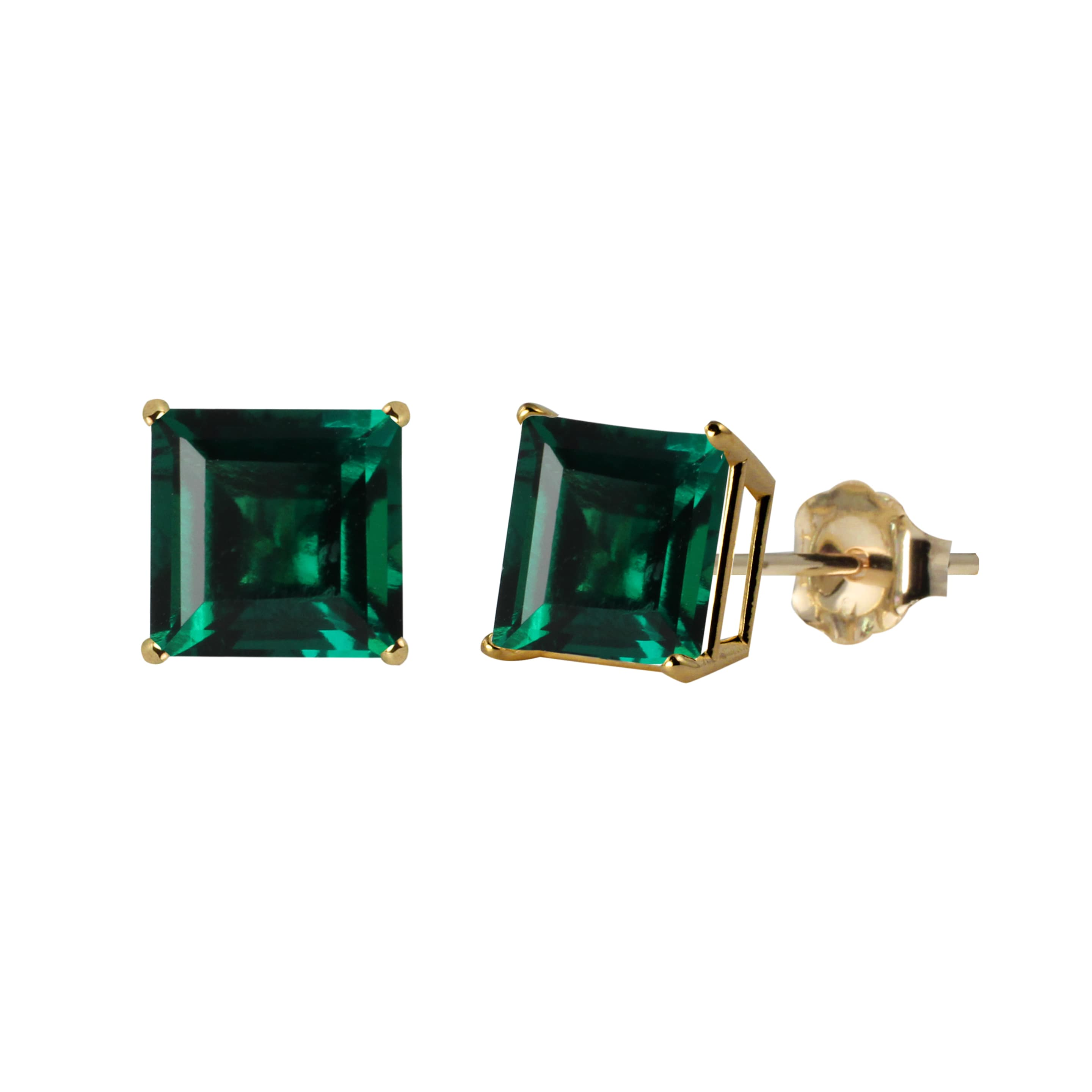 baikalla treated jewelry shot emerald natural gold product front heat earrings with diamond