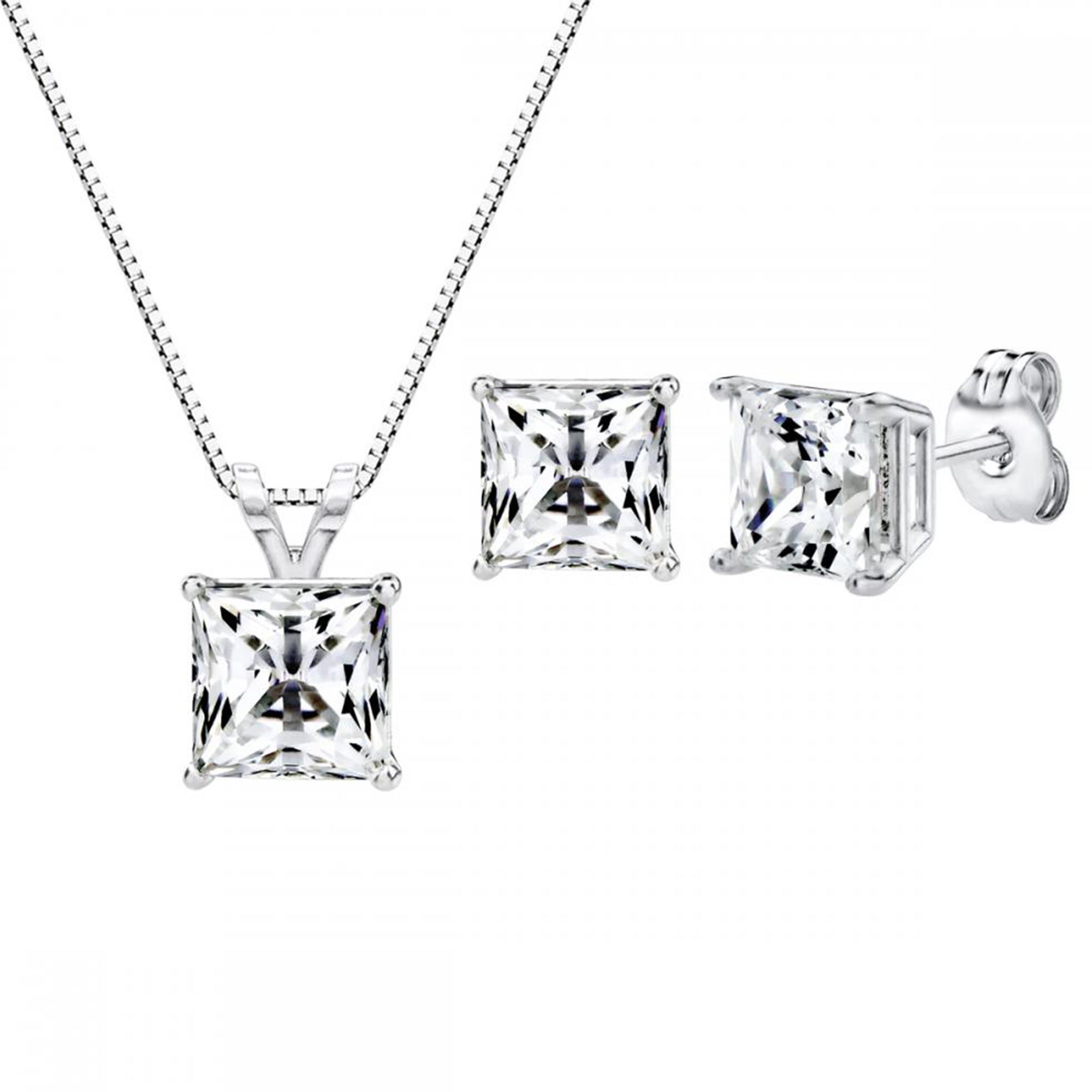 swarovski cz cut solitaire collection neclace gemour pendant products princess