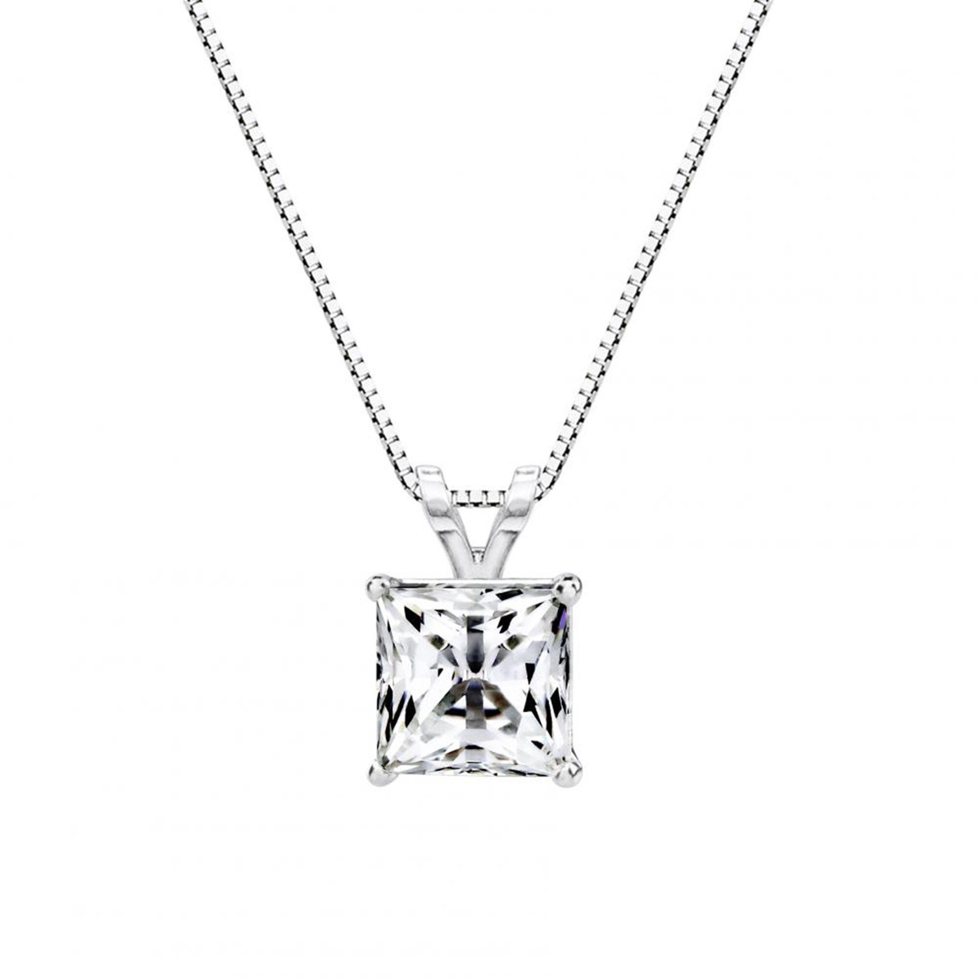 diamond drop gold itm double princess pendant cut white chain