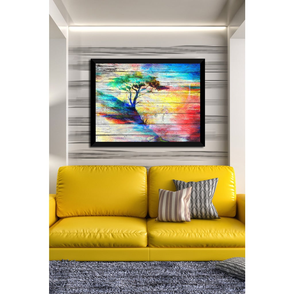 Shop Colorful Trees 2 Giclee Wood Wall Decor - On Sale - Free ...