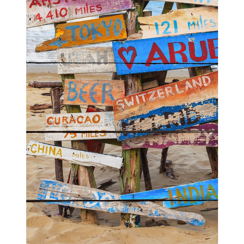 Shop Beach Signs Giclee Wood Wall Decor - On Sale - Free Shipping ...