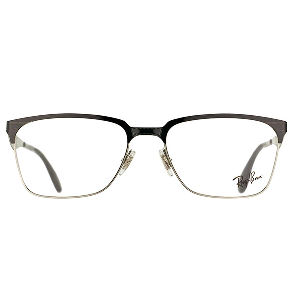 7f9d2d5dad Shop Ray-Ban RX 6344 2861 Black And Silver Metal Square 54mm Eyeglasses -  Free Shipping Today - Overstock - 11701569