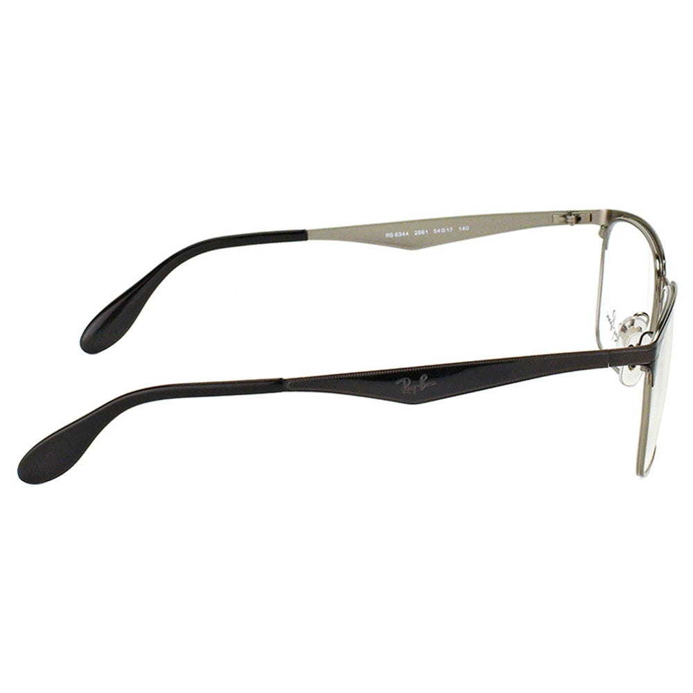 4281f6a21e1 Shop Ray-Ban RX 6344 2861 Black And Silver Metal Square 54mm Eyeglasses -  Free Shipping Today - Overstock - 11701569