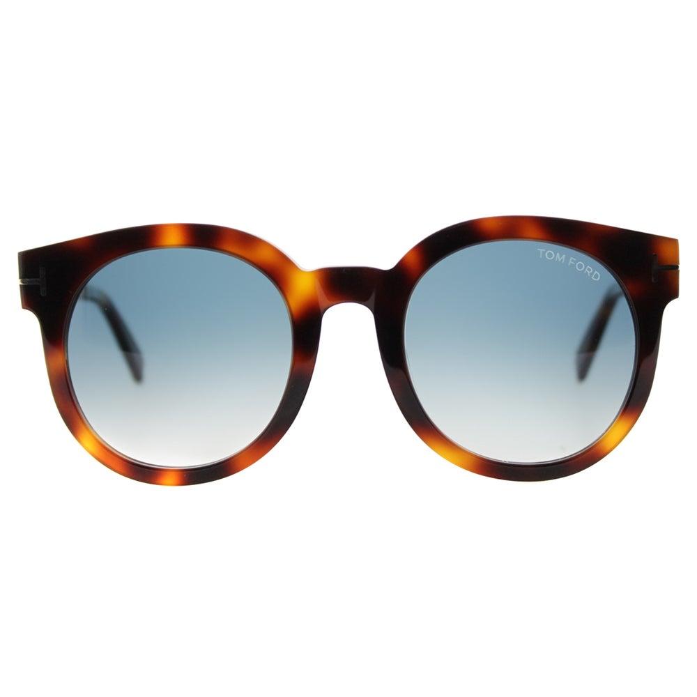 c258713de09f9 Shop Tom Ford TF 435 52P Janina Light Havana Plastic Round Blue Gradient  Lens Sunglasses - Free Shipping Today - Overstock - 11701719