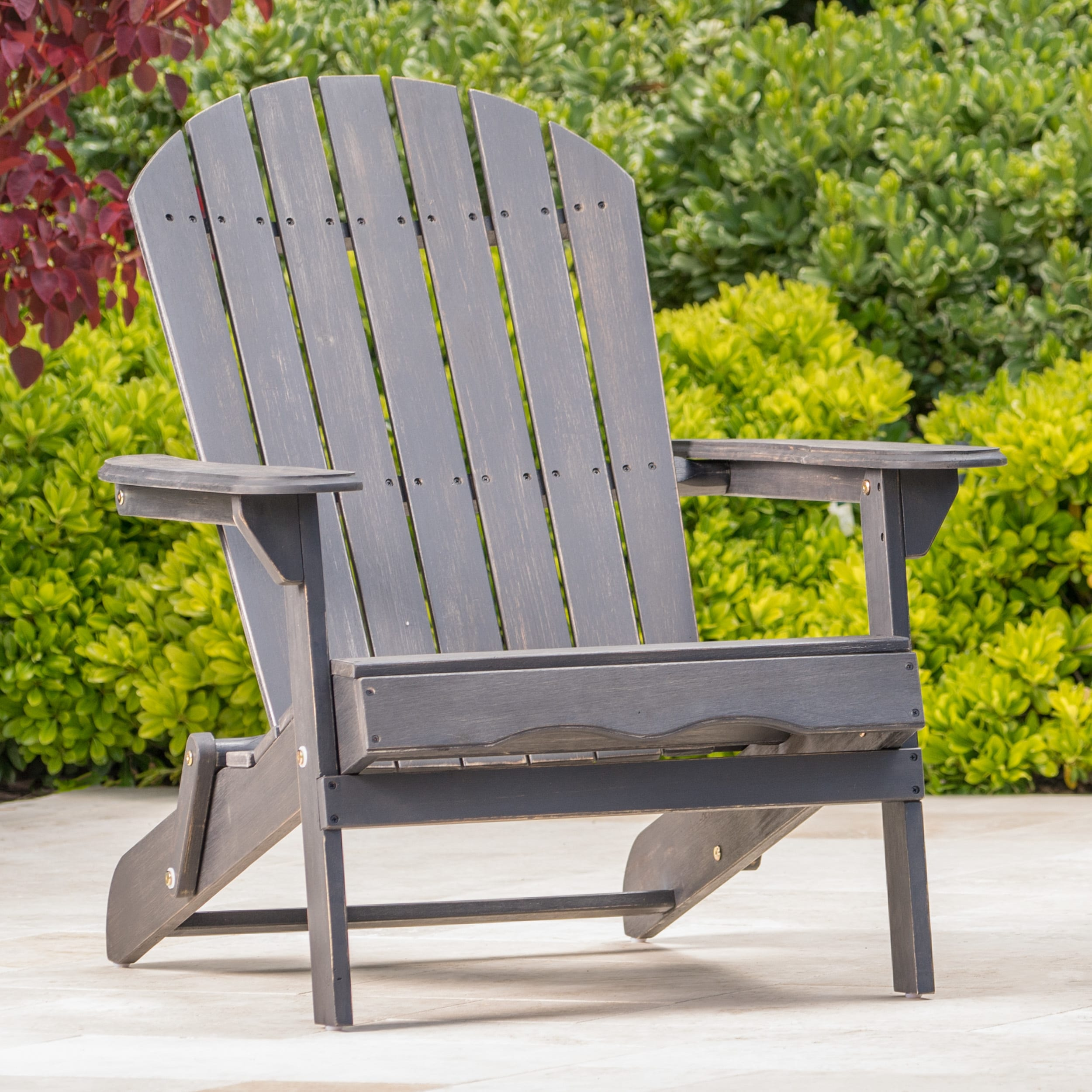 Merveilleux Shop Hanlee Outdoor Folding Wood Adirondack Chair By Christopher Knight  Home   On Sale   Free Shipping Today   Overstock.com   11702230