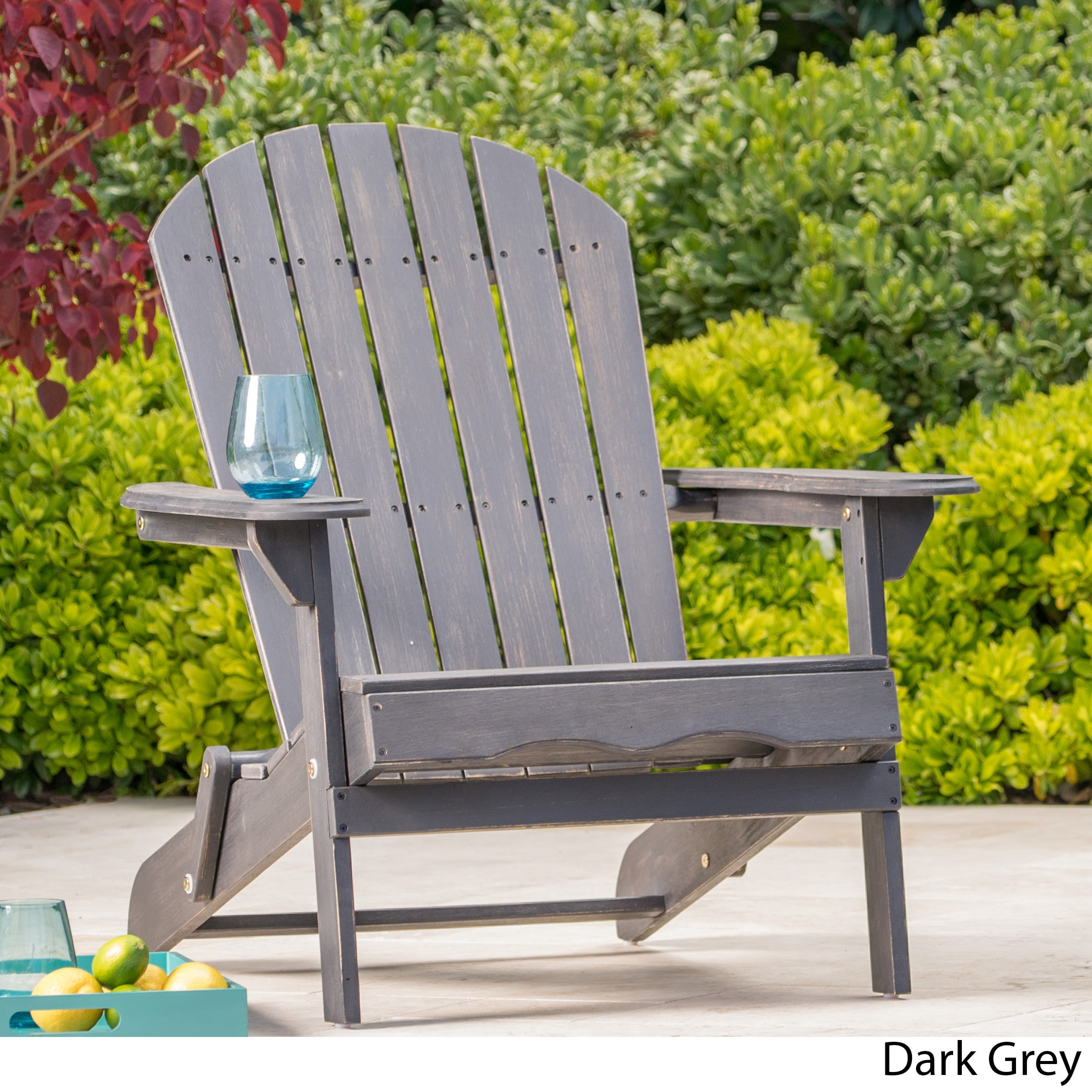 Shop Hanlee Outdoor Folding Wood Adirondack Chair By Christopher Knight  Home   On Sale   Free Shipping Today   Overstock.com   11702230