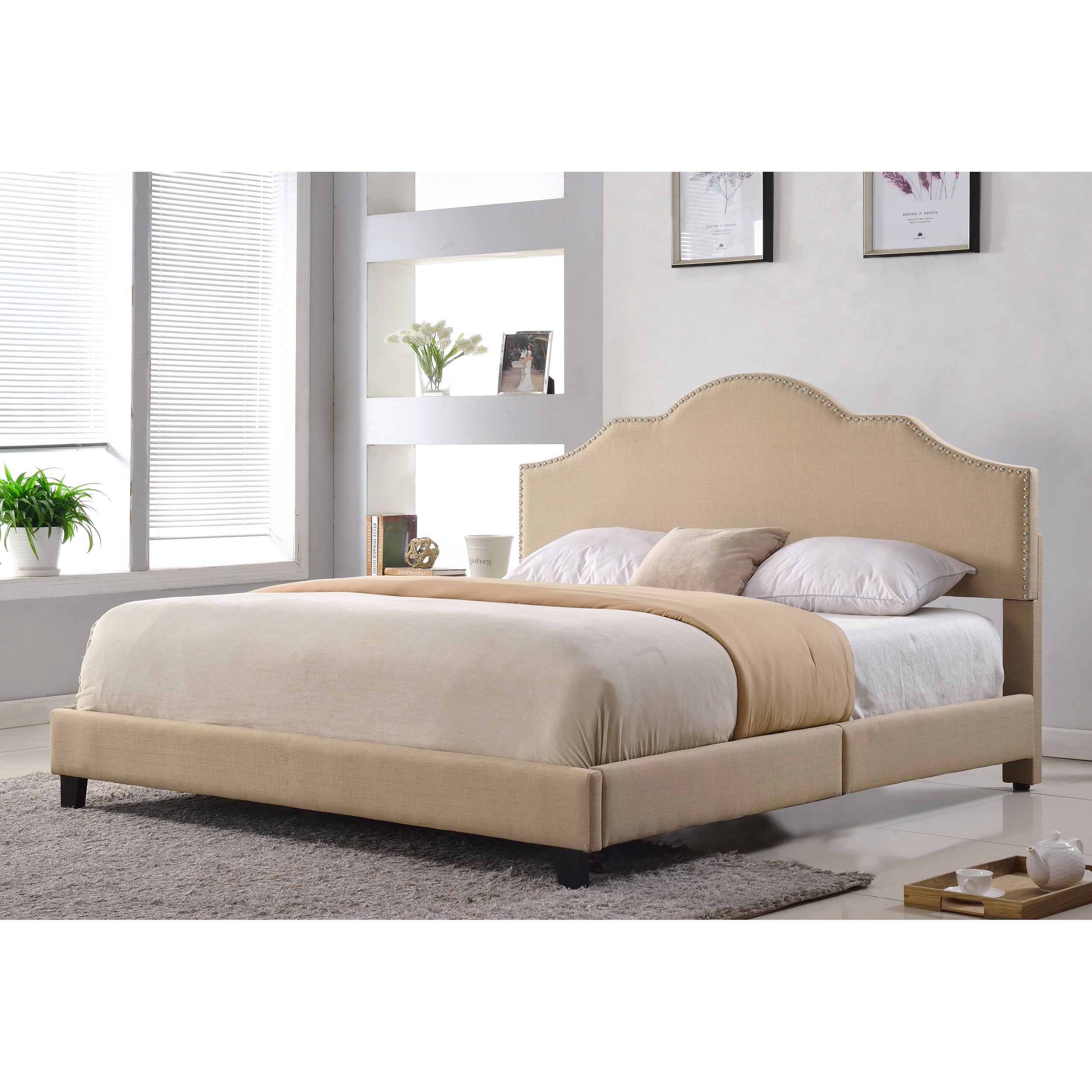 Abbyson Richmond Upholstered Queen Size Bed  Free Shipping Today