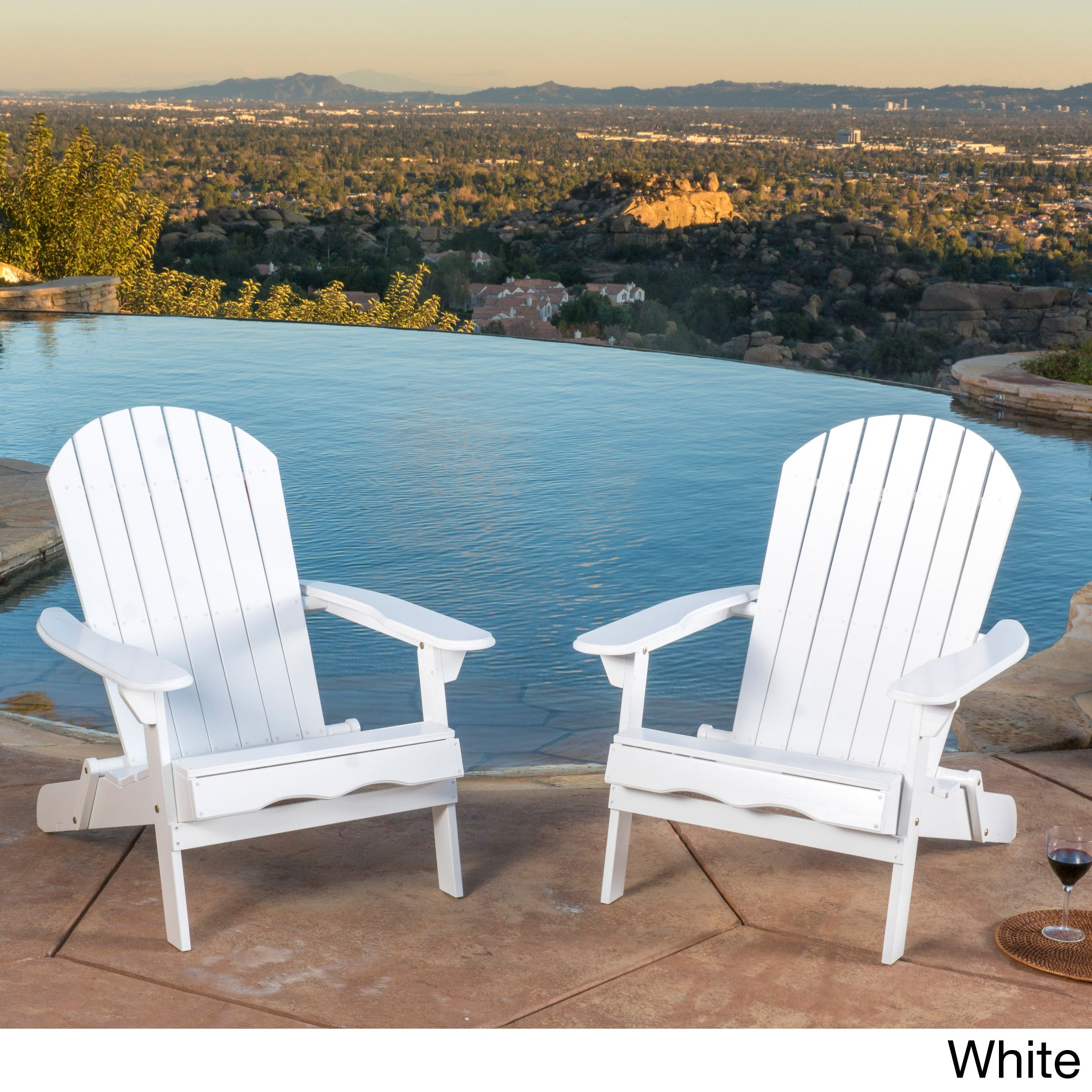 Shop Hanlee Outdoor Folding Wood Adirondack Chair (Set Of 2) By Christopher  Knight Home   On Sale   Free Shipping Today   Overstock.com   11702619