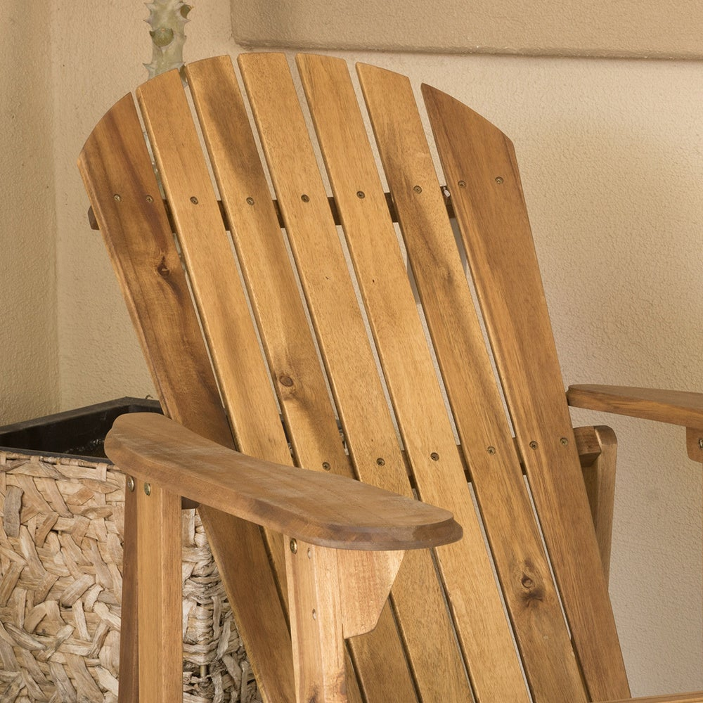 shop hanlee outdoor folding wood adirondack chair set of 2 by