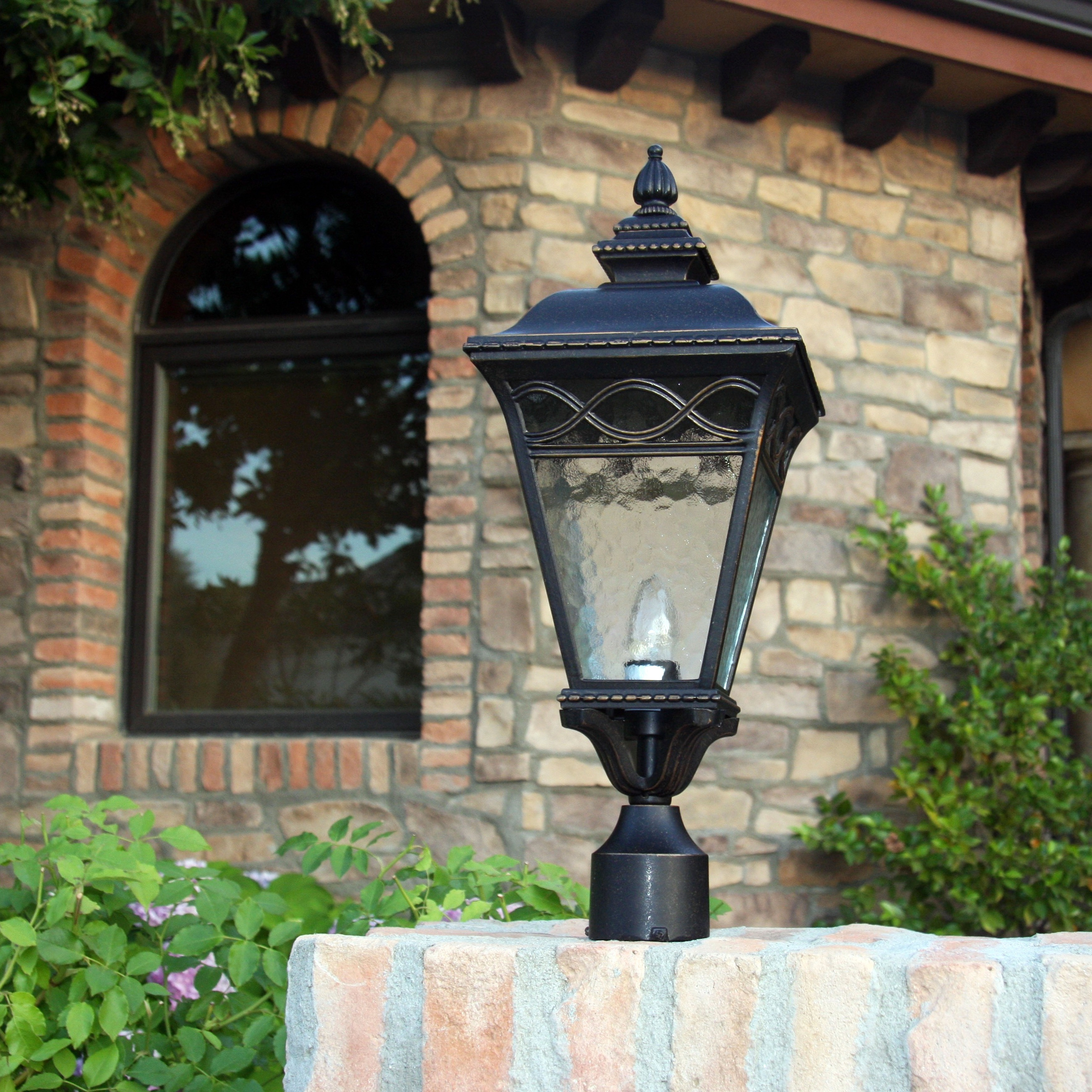 Y decor cheri outdoor lamp post light fixture in oil rubbed bronze y decor cheri outdoor lamp post light fixture in oil rubbed bronze oil rubbed bronze free shipping today overstock 18626427 mozeypictures Gallery