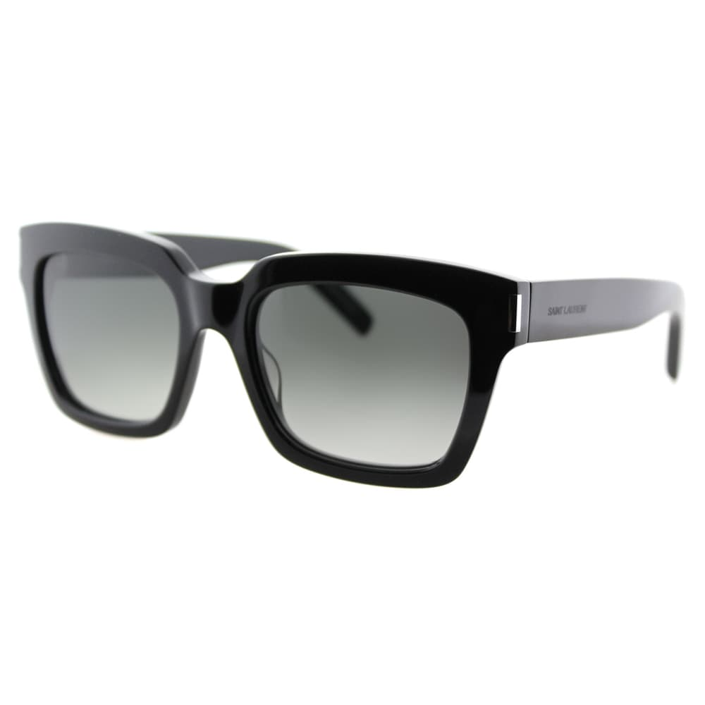 dd3eba00e5d2b5 Saint Laurent SL Bold 1 001 Havana Plastic Square Grey Gradient Lens  Sunglasses
