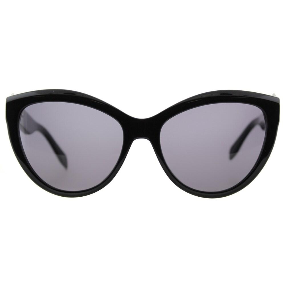 73ba4029fc2 Shop Alexander McQueen AM 0003S 001 Piercing Black Plastic Cat-Eye Grey  Lens Sunglasses - Free Shipping Today - Overstock.com - 11703080