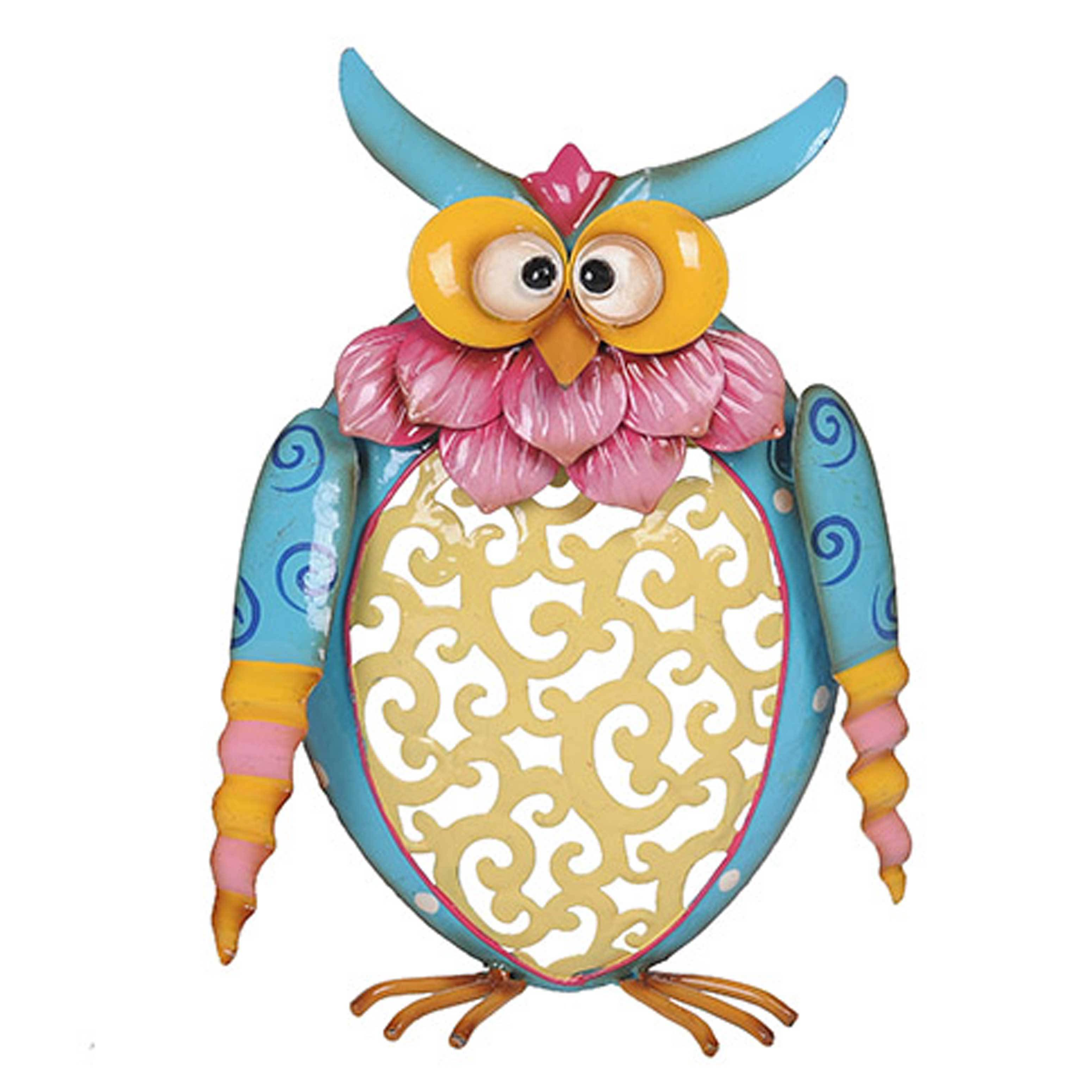 Shop Sunjoy Whimsical Owls Hand Painted Metal Garden Sculpture Set Of 3,  18 Inches, 14 Inches, 11 Inches   Free Shipping Today   Overstock.com    11705847