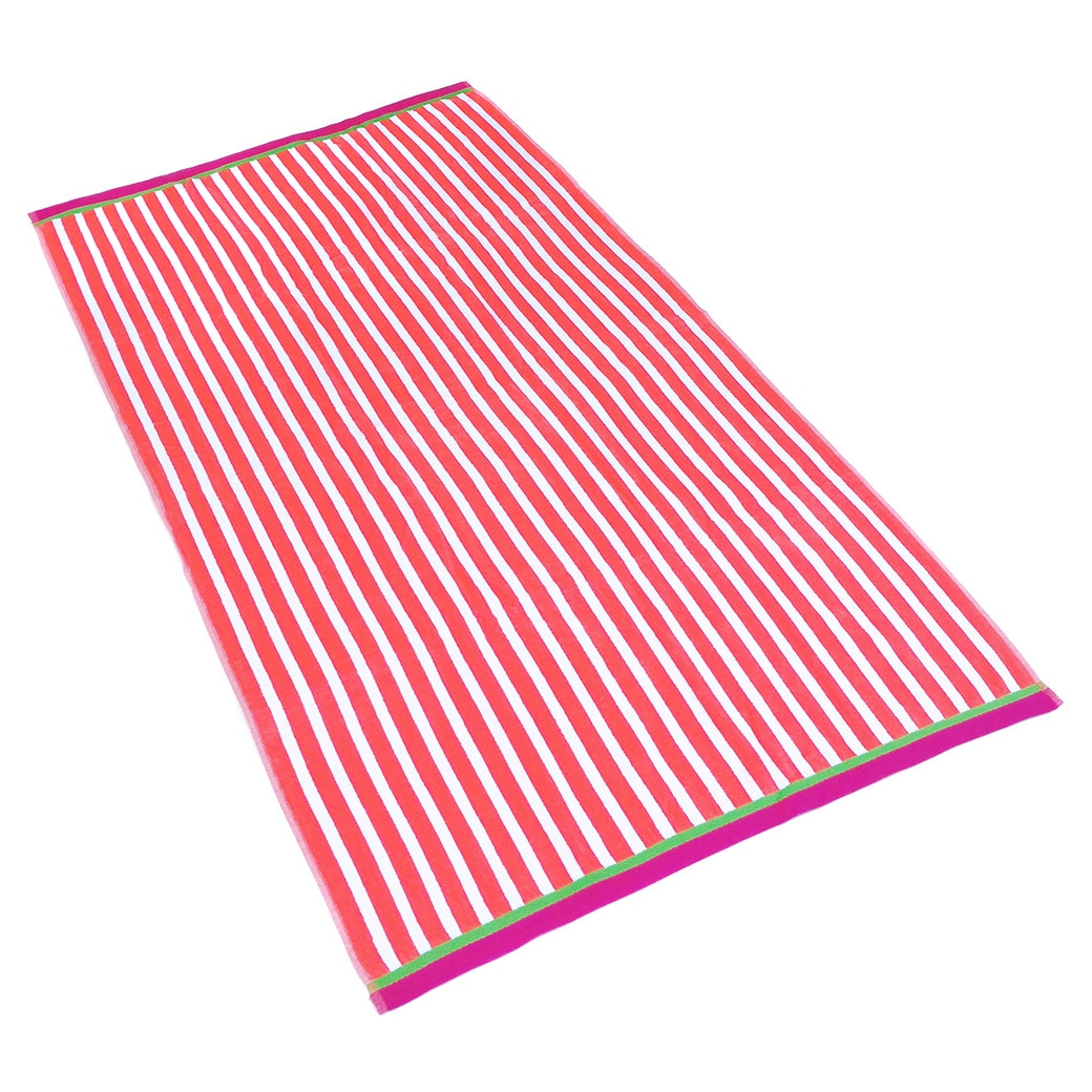 Shop Kaufman Racing Stripe Velour Beach Towels (Set of 4) - Free ...