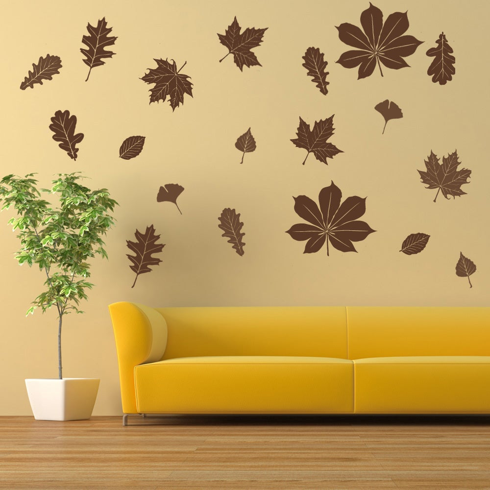 Shop Falling Leaves Wall Decal Vinyl Art Home Decor - On Sale - Free ...