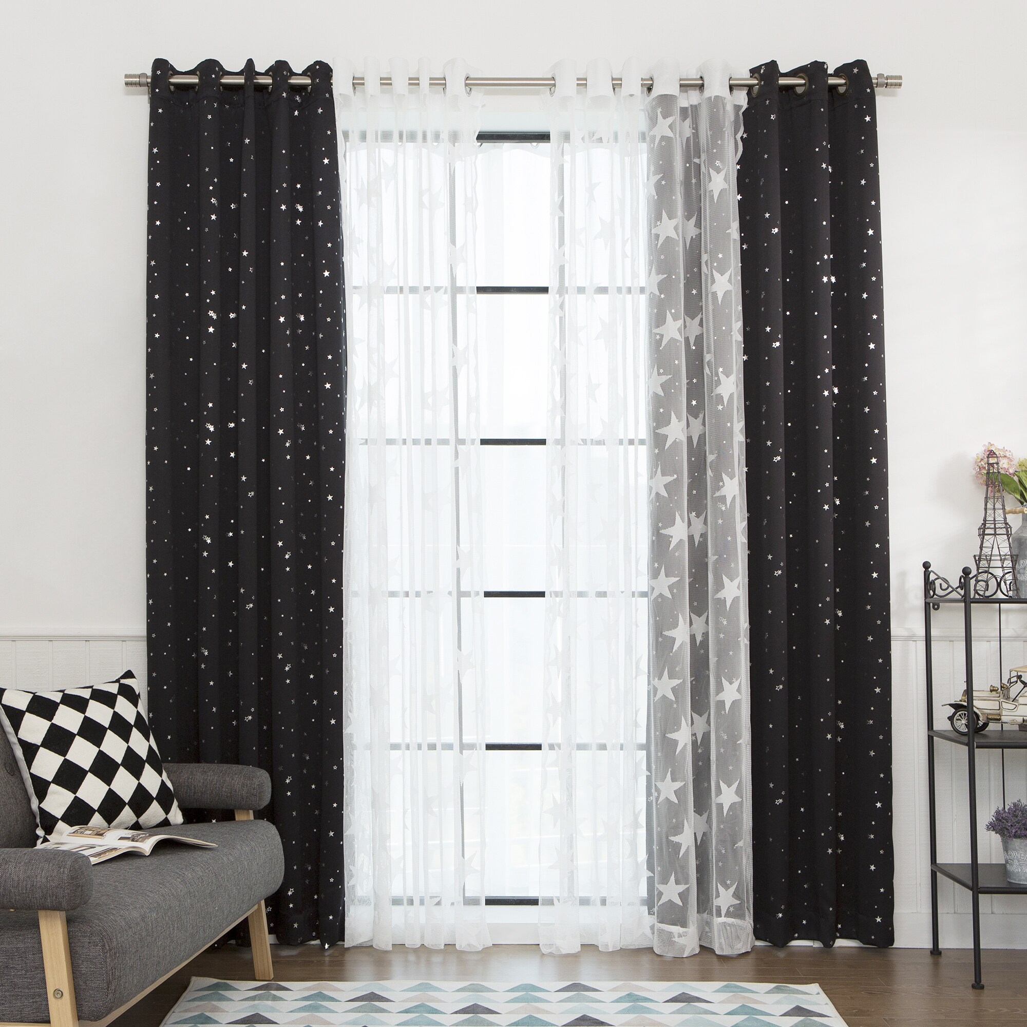 Shop Aurora Home MIX and MATCH CURTAINS Blackout Tulle Lace Sheer 84 ...